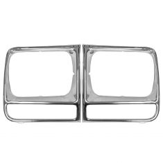 97-01 Jeep Cherokee Chrome Headlight Bezel Pair