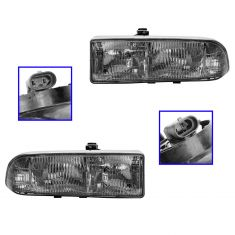1998-03 S10 Blazer PU Comp Headlight Pair