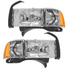 1999-02 Dodge Pickup w/Sport Pkg Headlight Pair