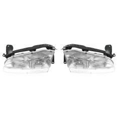 1993-97 Geo Prizm Composite Head Lamp Pair