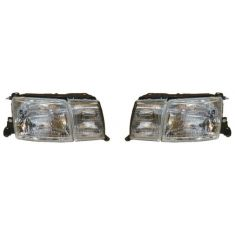 1993-94 Lexus LS400 Composite Headlight (with fog lamp) Pair