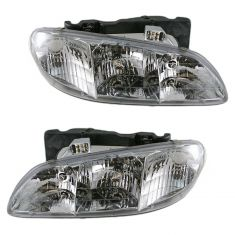 96-98 Grand Am Headlight Pair