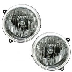 02-04 Jeep Liberty Headlight Pair