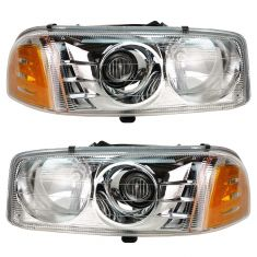 01-05 GMC Yukon XL Denali Headlight Pair