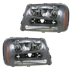 02-09 Chevy Trailblazer Headlight PAIR