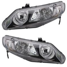 06-10 Honda Civic Hybrid; 09-10 Civic Sedan Headlight PAIR