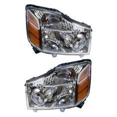 04-07 Nissan Armada Titan Headlight Pair