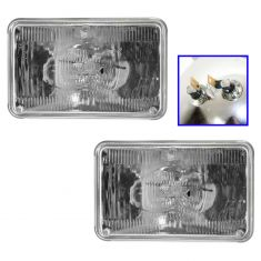 Rectangle Sealed Beam Headlight Hi-Beam Pair