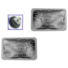 Rectangle Sealed Beam Headlight Lo-Beam Pair