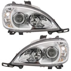 02-05 Mercedes Benz ML-Class Halogen Headlight PAIR