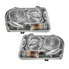 05-10 Chrysler 300 HALOGEN (Non Projection) Headlight PAIR