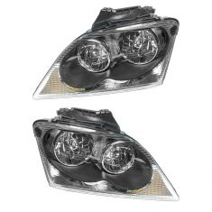 04-06 Chrysler Pacifica Quad Halogen Headlight PAIR