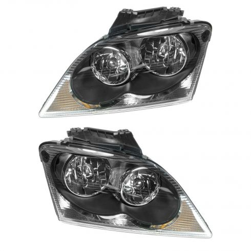 chrysler pacifica headlight pair 1alhp00493 at 1a. Black Bedroom Furniture Sets. Home Design Ideas