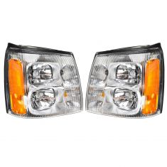 02 Cadillac Escalade, EXT Headlight Pair