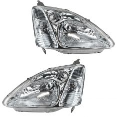 02-03 Honda Civic Headlight Pair for Hatchback Models