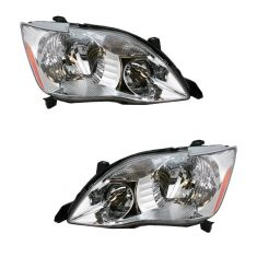 05-07 Toyota Avalon Headlight Pair Halogen