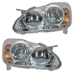 05-08 Toyota Corolla Headlight for CE & LE Models Pair
