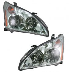 2004-08 Lexus RX-330/350 Halogen Headlight Pair