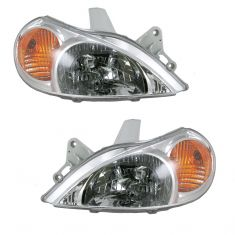 00-02 Kia Rio Sedan Headlight Pair
