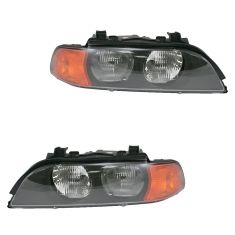 98-00 BMW 528i, 540i Halogen Headlight Pair