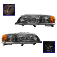 01-04 Volvo 70 SRS Wagon Halogen Headlight Pair