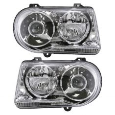 05-10 Chrysler 300C Halogen Projector Headlight PAIR