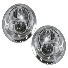 05-06 BMW Mini Cooper Halogen Headlight Pair