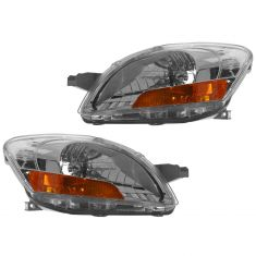 07-11 Toyota Yaris Sedan Headlight Pair