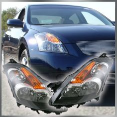 07-09 Nissan Altima Sedan Halogen Headlight Pair