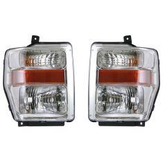 08-09 Ford F Series HD Aero Pickup Headlight Pair