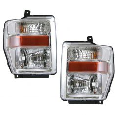08-10 Ford F Series HD Aero Pickup Headlight Pair