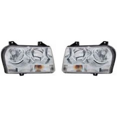 2008-09 Chrysler 300 Headlight Pair (for 2.7 3.5L)