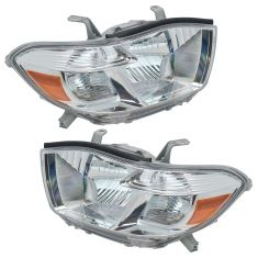 2008-10 Toyota Highlander Headlight Pair (Base Limited)