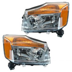 2008-10 Nissan Titan Headlight Pair