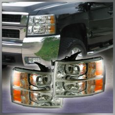 07-12 Chevy Silverado Pickup Headlight PAIR