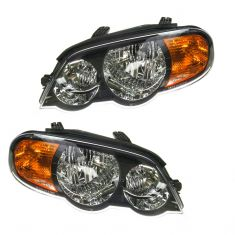 02-04 Kia Spectra 5DR Headlight PAIR