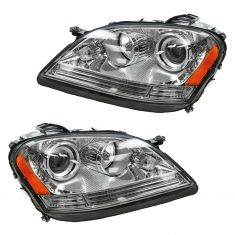 06-08 Mercedes ML Class Halogen Headlight PAIR