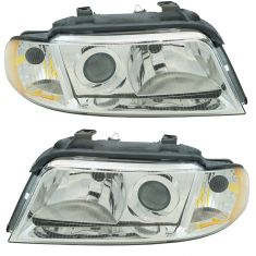 99-02 Audi A4 S4 HID (w/o Ballast) Headlight PAIR