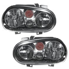 02-07 VW Golf w/FL Headlight (Chrme & Black) PAIR