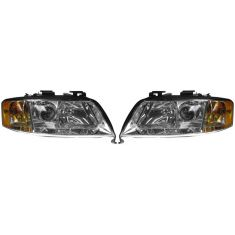 1998-01 Audi A6 Halogen Headlight PAIR