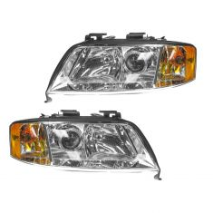 98-01 Audi A6 Halogen Headlight PAIR