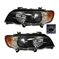 00-03 BMW X5 HID  Headlight w/Clear TS PAIR