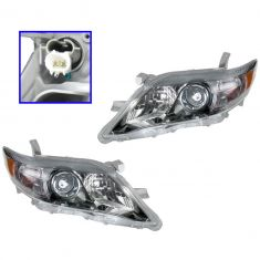 10-11 Toyota Camry SE (US Built) Headlight PAIR