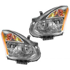 08 Nissan Rogue Halogen Headlight PAIR