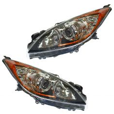 10-11 Mazda 3 Halogen Headlight PAIR
