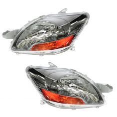 06-09 Yaris S 2010 Yaris w/Sprt Pkg Headlight PAIR