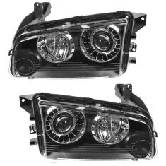08-10 Dodge Charger HID Headlight w/o Ballast PAIR