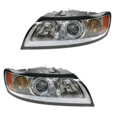 08-11 Volvo S40, V50 Halogen Headlight PAIR