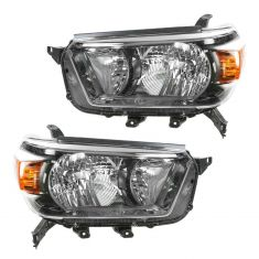 2010-11 Toyota 4Runner Headlight w/Smoked Bezel PAIR