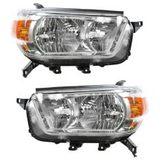 2010-11 Toyota 4Runner Headlight (w/o Smoked) Bezel PAIR